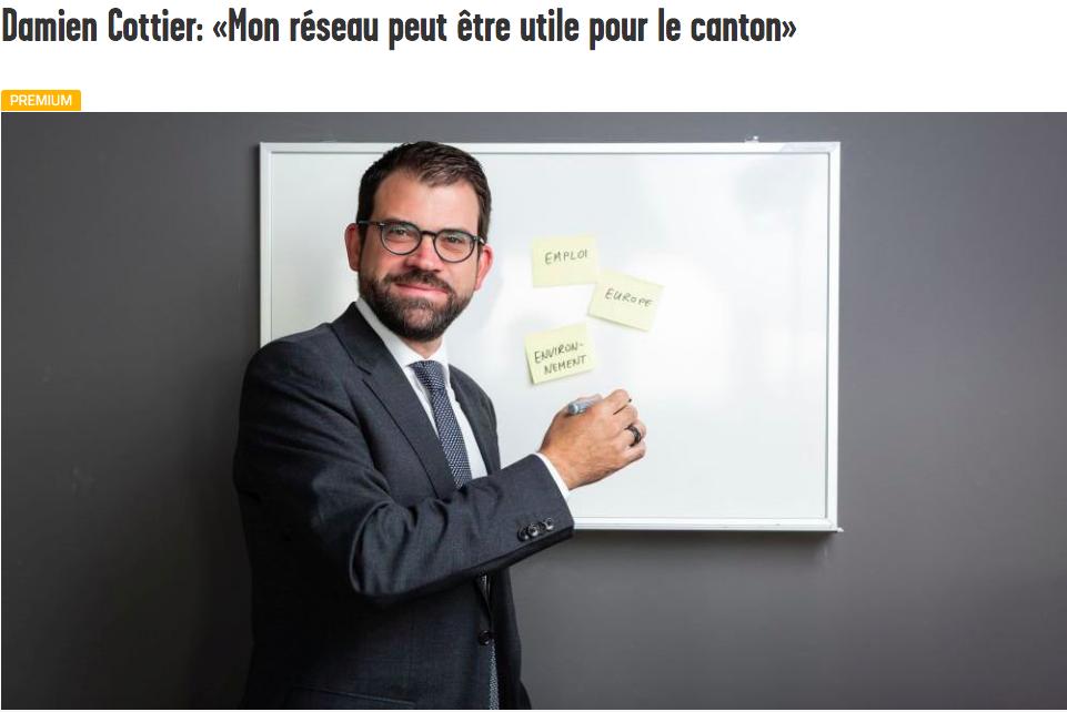 Arcinfo: Damien Cottier: «Mon réseau peut être utile pour le canton»