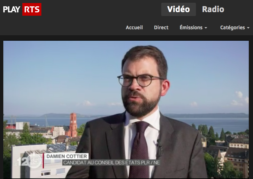 Emission spéciale 12h45 RTS : les enjeux des élections fédérales à Neuchâtel
