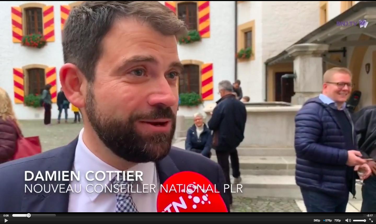 RTN: réaction de Damien Cottier après son élection
