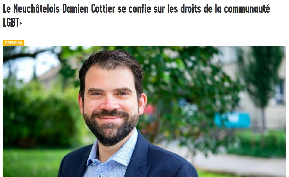 Arcinfo: Le Neuchâtelois Damien Cottier se confie sur les droits de la communauté LGBT+