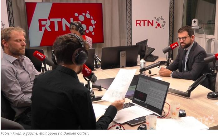 Débat entre Fabien Fivaz et Damien Cottier sur RTN